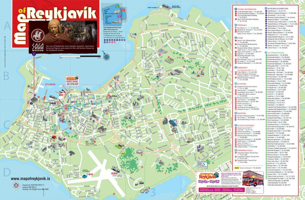 Map of Reykjavik